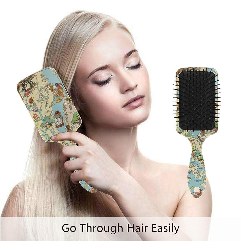 Vintage 1935 Louisiana State Map Hair Brush,Scalp Massage Hair Comb with Air Cushion