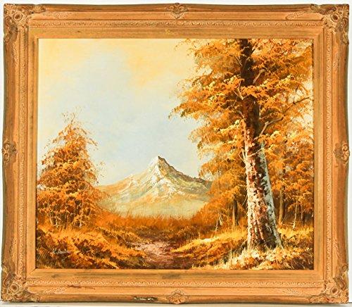 Sulis Fine Art K. Amina–Gilt favolosa Contemporaneo a Olio, Paesaggio Autunnale