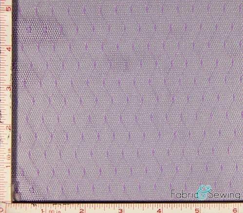 Lavender Lilac Purple Polka Dot Mesh Fabric 2 Way Stretch Nylon 1 Oz 54-56'