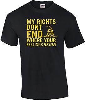Rights Don't End Where Feelings Begin 2Nd Amendment T-Shirt-Antcherry-