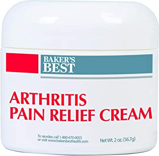 Baker's Best Arthritis Pain Relief Cream – arthritis cream, pain relief, topical numbing cream – Methyl Salicylate, Menthol, Lidocaine, Aloe Vera Gel, Emu Oil, Glucosamine Sulfate, MSM – 2 oz