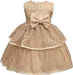 KINDOYO Baby Girls Dress - Infant Girls Birthday Christening Dress Baptism Wedding Party Flower Dress