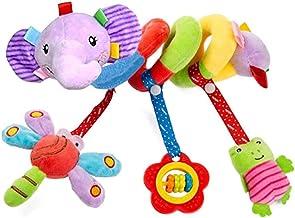 Comius Sharp Juguetes Colgantes para Bebé, Cochecito de Bebé en Espiral, Juguetes para Colgar, Juguete para Cochecito de Bebé, Sonajero recién Nacido,Cochecito para niños (Elefante)