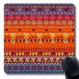 Luancrop Alfombrillas de ratón Marroquí de Color Chaquetas Tribales Sobres Cojines Muebles Patrón nigeriano Perú África Azteca Antideslizante Gaming Mouse Pad Alfombrilla de Goma Oblonga