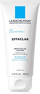 La Roche-Posay Effaclar Medicated Gel Acne Face Wash, Facial Cleanser with Salicylic Acid for Acne & Oily Skin, 6.76 Fl. Oz.