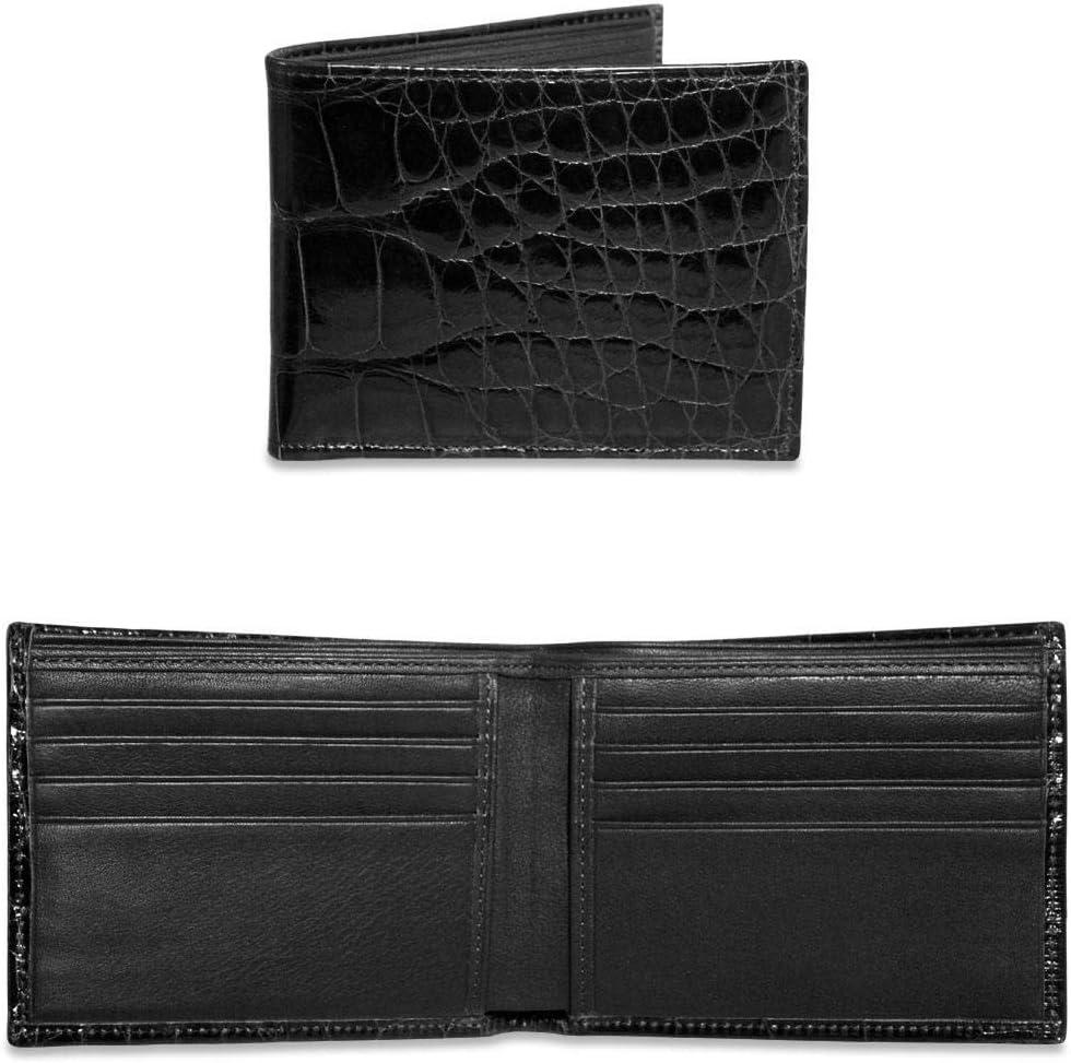 American Alligator Classic Bi-Fold Wallet #AL701 (Black)