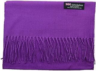 Purple Wholesale Lot Unisex 100% CASHMERE SCOTLAND Scarf Pure Solid Colored Super Soft 6 pcs #CPAS