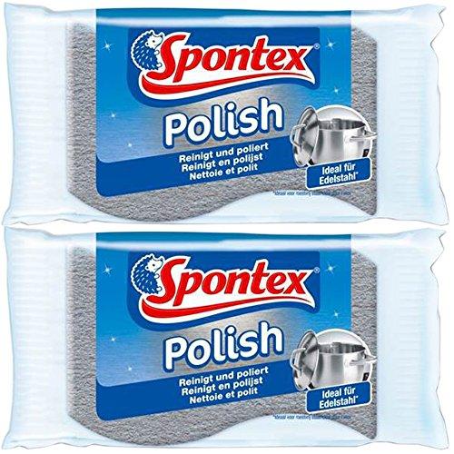 Spontex 19321001 Edelstahl-Putzer (Doppelpack) (2-Stück)