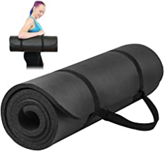 Cenblue® 10mm Yoga Mat High Density Anti-Tear - Thick Non-Slip Exercise Mat For Pilates, Fitness, Workout and Stretch with Carrying Strap