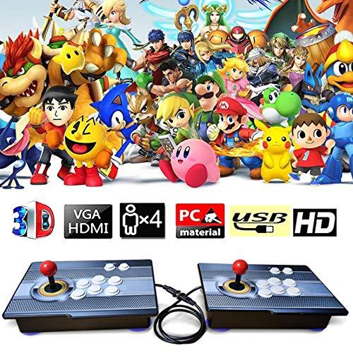 CNMJI 3D & 2D Pandora's Box Home Arcade Game Console 2680 Classic-Spiele Spielkonsole Video 1080P HD Full HD Unterstützt PS3 HDMI Und VGA Ausgang (6 Tasten) Fur PC/TV/PS4