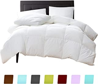 New York Mercado 100% ORGANIC COTTON Comforter Luxury and Premium Quality QUILTED with Corner Tabs 500 GSM GOTS Certified 800 TC All Season Warm Fluffy Ultra-Soft Comforter Twin, White