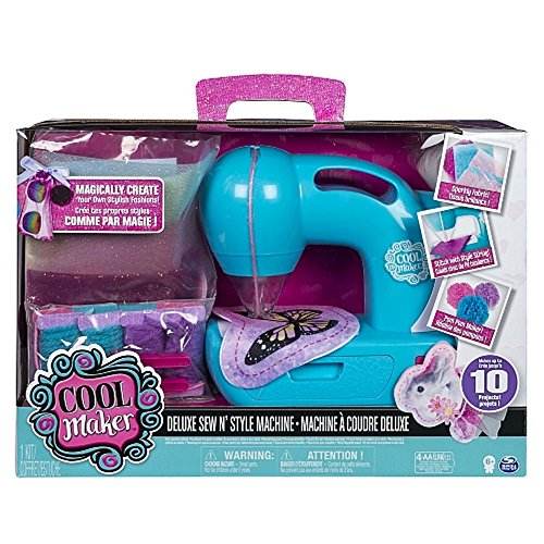 Cool Maker - Deluxe Sew N' Style Sewing Machine with Pom-Pom Maker Attachment
