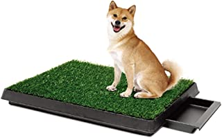 Dog Toilet Indoor Puppy Training Pad, Portable Dog Potty Pet Training Grass Mat, Removable Waste Tray For Easier Clean Up,...