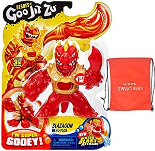 IA INGENIOUS ARTS LLC. QUALITY EXCELLENCE Heroes of Goo JIT Zu Series 2 Blazagon Action Figure (Bonus: Swag Bag with Extra Toys) for Boys Girls Playtime and Family Fun!