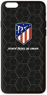 PHONECASES3D Funda móvil Atlético de Madrid Nunca Dejes de Creer Compatible con iPhone 6 Plus. Carcasa de TPUde Alta protección. Funda Antideslizante, Anti choques y caídas. - Negro
