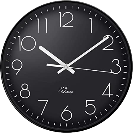 WallarGe Wall Clock, 13.5 Inch Extra Large, Wall Clocks Battery Operated, Silent Non-Ticking, Wall Clocks for Living Room Décor, Perfect for Kitchen, Backyard, Garage, Office, Gym, etc.