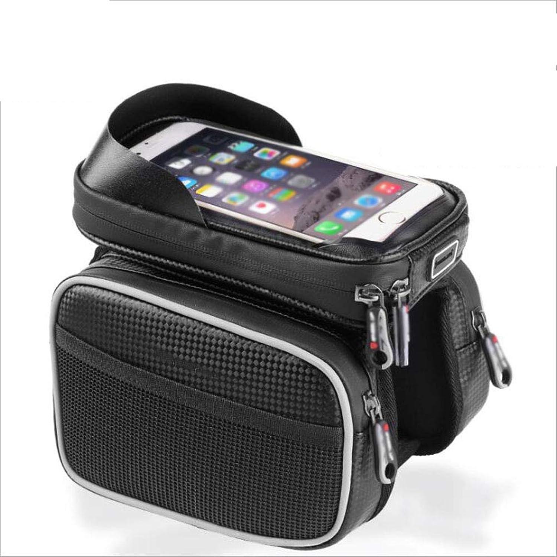 Bicycle Bag, Upper Tube Bag Waterproof Mountain Bike Front Beam Bag Mobile Phone Bag Riding Equipment Accessories