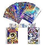 JIM - Pokémon Cartes,100 Pcs Carte de Pokemon Amusant pour Enfants(59EX+20GX+20Mega+1energy)