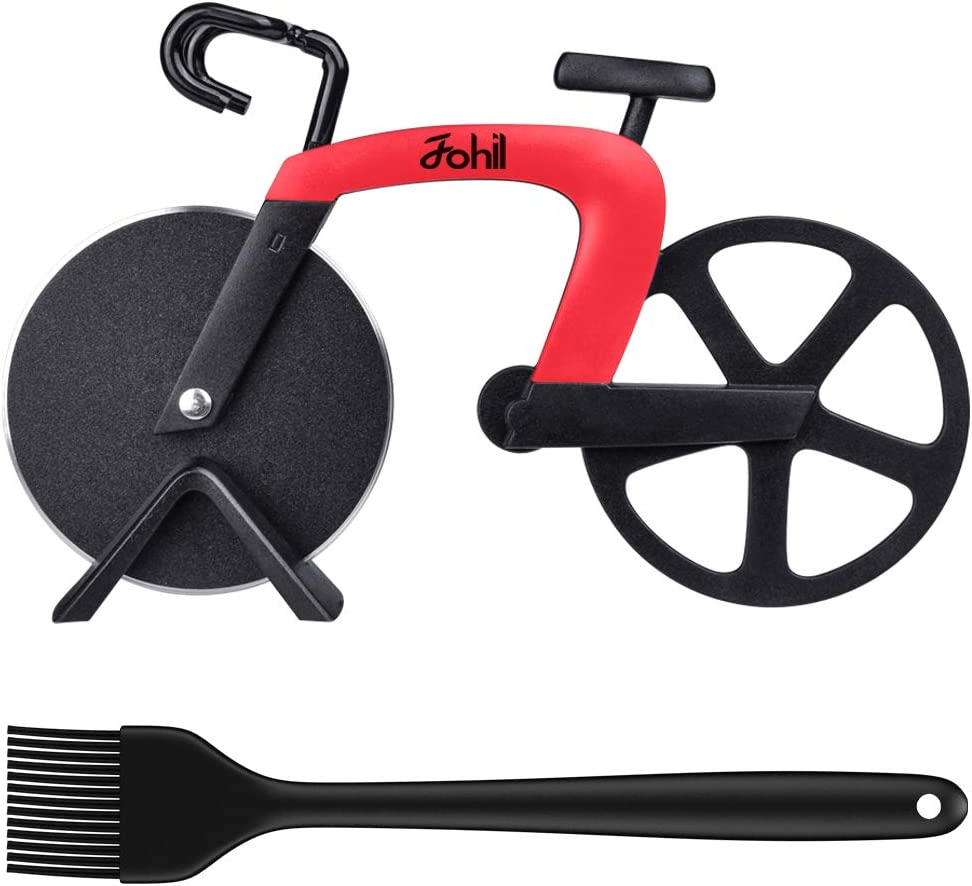 Dedication Bicycle Pizza Cutter Wheel Max 62% OFF Fohil Bike Shape Cut Non-stick