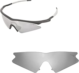 Walleva Lenses With Black Nosepad for Oakley M Frame Sweep - Multiple Options Available