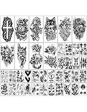 40 vellen Waterdichte Tijdelijke Tatoeages Bloemen en Dierencollectie Blijvende nep-Tatoeages voor Vrouwen en Meisjes of Kinderen