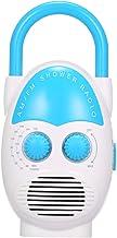 Walmeck- Mini AM/FM Shower Radio Bathroom Water-Resistent Radio Hanging Music Radio Built-in Speaker