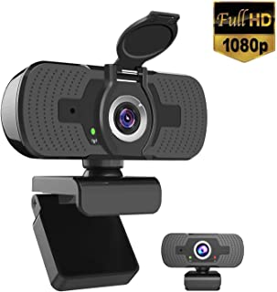 iAmotus Webcam 1080P Full HD con Micrófono Incorporado y Cubierta de Privacidad Cámara Web Mini USB Plug Play Webcam para Video Chat y Grabación, Compatible con PC Windows, Computadora Mac (Negro)