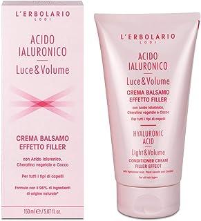 L'Erbolario, Crema Balsamo Effetto Filler Acido Ialuronico Luce e Volume, con Cheratina vegetale e Cocco, 150 ml