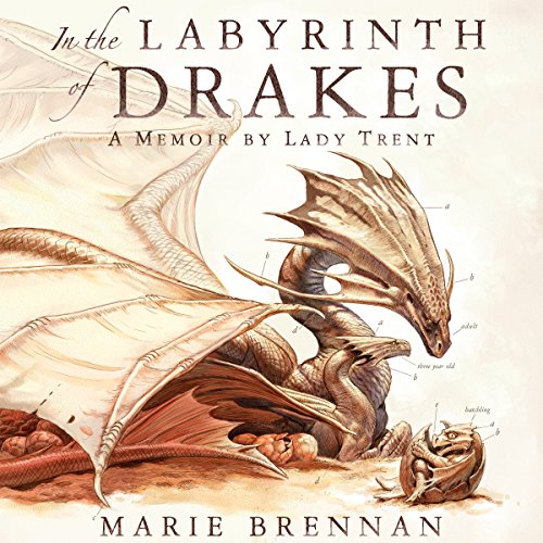 In the Labyrinth of Drakes     A Memoir by Lady Trent              By:                                                                                                                                 Marie Brennan                               Narrated by:                                                                                                                                 Kate Reading                      Length: 10 hrs and 31 mins     508 ratings     Overall 4.8