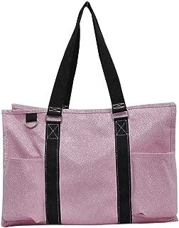 All Purpose Organizer Medium Utility Tote Bag 2018 Fall Collection (Glitter Pink)