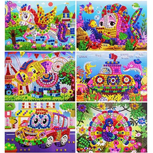 YUESEN DIY Mosaico Pegatinas Niños Creativo Dibujos Animado
