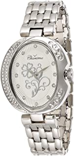 Charisma Women's White Dial Silver Band Watch - 6516