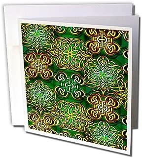 3dRose Pretty Irish Celtic Design - Greeting Cards, 6 x 6 inches, set of 6 (gc_100524_1)