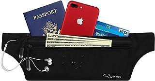 Ryaco Travel Wallet RFID Blocking, Passport Holder/Money Belt, Durable Comfortable Lightweight Waterproof Secure Hidden Travel Pouch Running, Cycling, Hiking