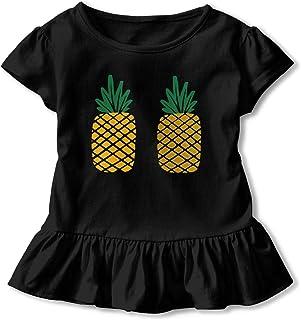 Mri-le2 Infant Short Sleeve Bodysuit Pineapple Pug Toddler Clothes