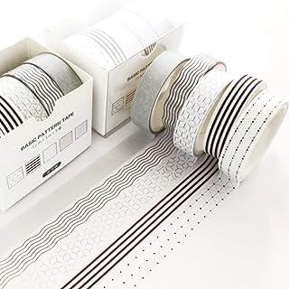YUBX Maigre Washi Tape Set Masking Tape 5 rouleaux Ruban adhesif decoratif pour Scrapbooking Artisanat de Bricolage 10MM d...