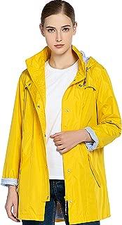 Womens Rain Jacket Waterproof Outdoor Lightweight Windproof Hooded Raincoat