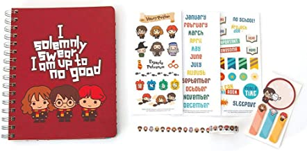 Playhouse Harry Potter Chibi 12-Month Planner Set with Stickers, Sticky Notes, Page Flags and Washi Tape