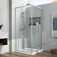 Elegant Duschwand f/ür badewanne 120x140 cm 2-teilig faltbar 6 mm Aufsatz Duschabtrennung Schwingt/ür