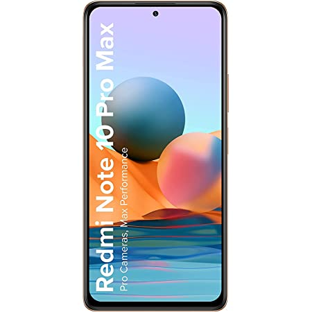 (Renewed) Redmi Note 10 Pro Max (Vintage Bronze, 6GB RAM, 128GB Storage) -108MP Quad Camera | 120Hz Super Amoled Display