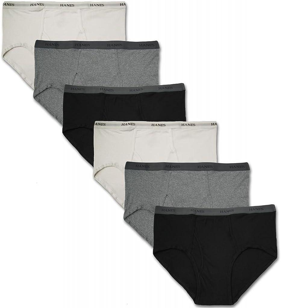 Hanes Big Men's Underwear Cotton Briefs 6-Pack