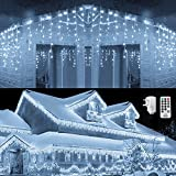 Qedertek Icicle Lights, 432 LED Christmas Fairy...