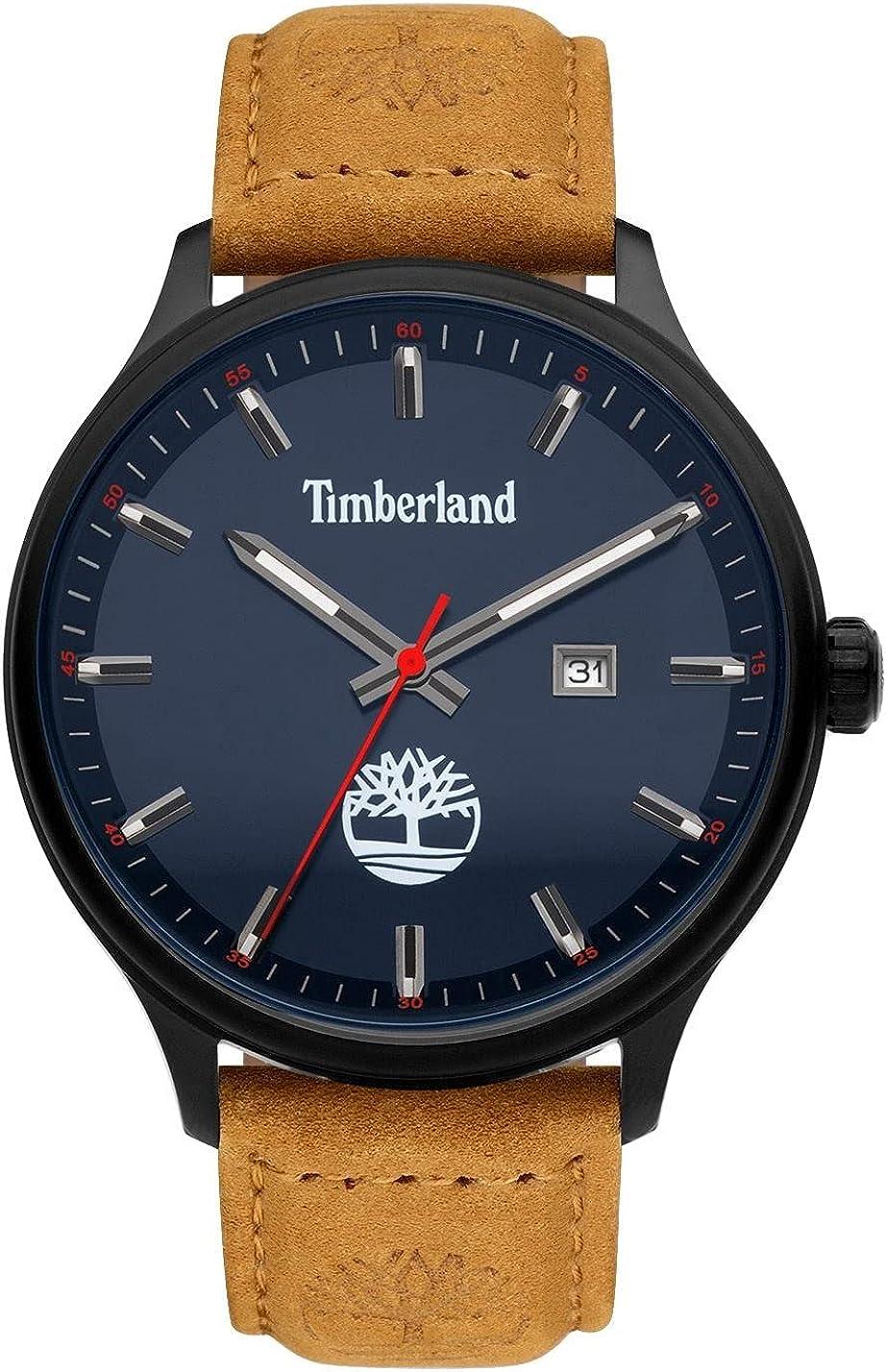 Timberland Reloj Analógico para Hombre de Cuarzo con Correa en Cuero TDWGB2102202