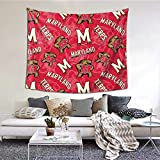 Maryland Terrapins University Tapestry Home Decoration Wall Mural For Living Room Bedroom Dormitory 60×51inch Psychedelic Tapestry