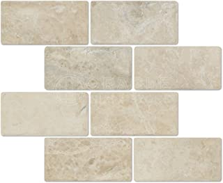 Crema Cappuccino Marble 3 X 6 Subway Tiles, Tumbled (Sample)