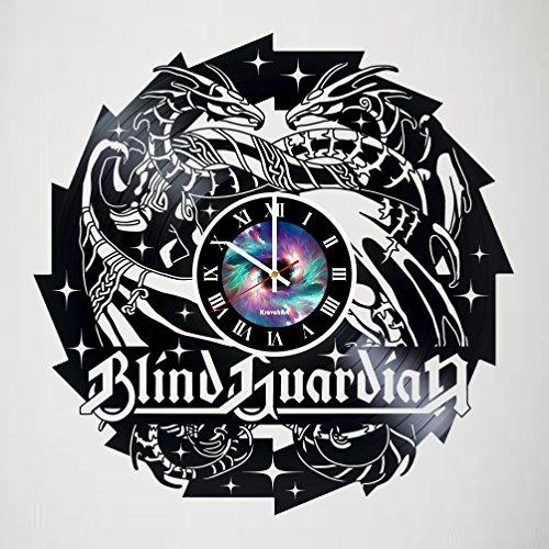 Blind Guardian Vinyl Record Wall Clock Art Fan Art Handmade Decor Original Gift Unique Decorative Vinyl Clock - Ideias de presente para meninos e meninas, amigos, homens e mulheres, adolescentes - Presente para ele - Presente para ela