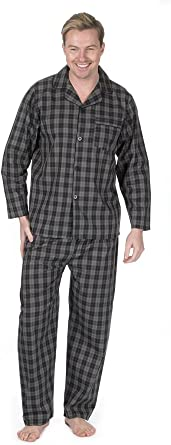 Cargo Bay Mens Check and Stripe Soft Comfortable Multibuy Pyjama Set