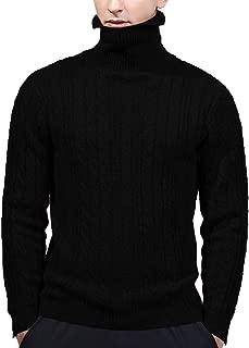 AIEOE Men's Sweater Winter Warm Jumper Turtleneck Long Sleeve Sweatshirt