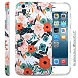iphone 6 case rifle paper co - Dimaka iPhone 6S Case for Girls, Cute 6S Case, Floral Pattern Double Layer Protective Case with Fancy Glossy Surface for iPhone 6 and 6S 4.7