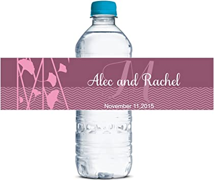 any colors 40 Custom chevron Water Bottle Labels custom bottle labels for any event or party adhesive stickers water bottle stickers
